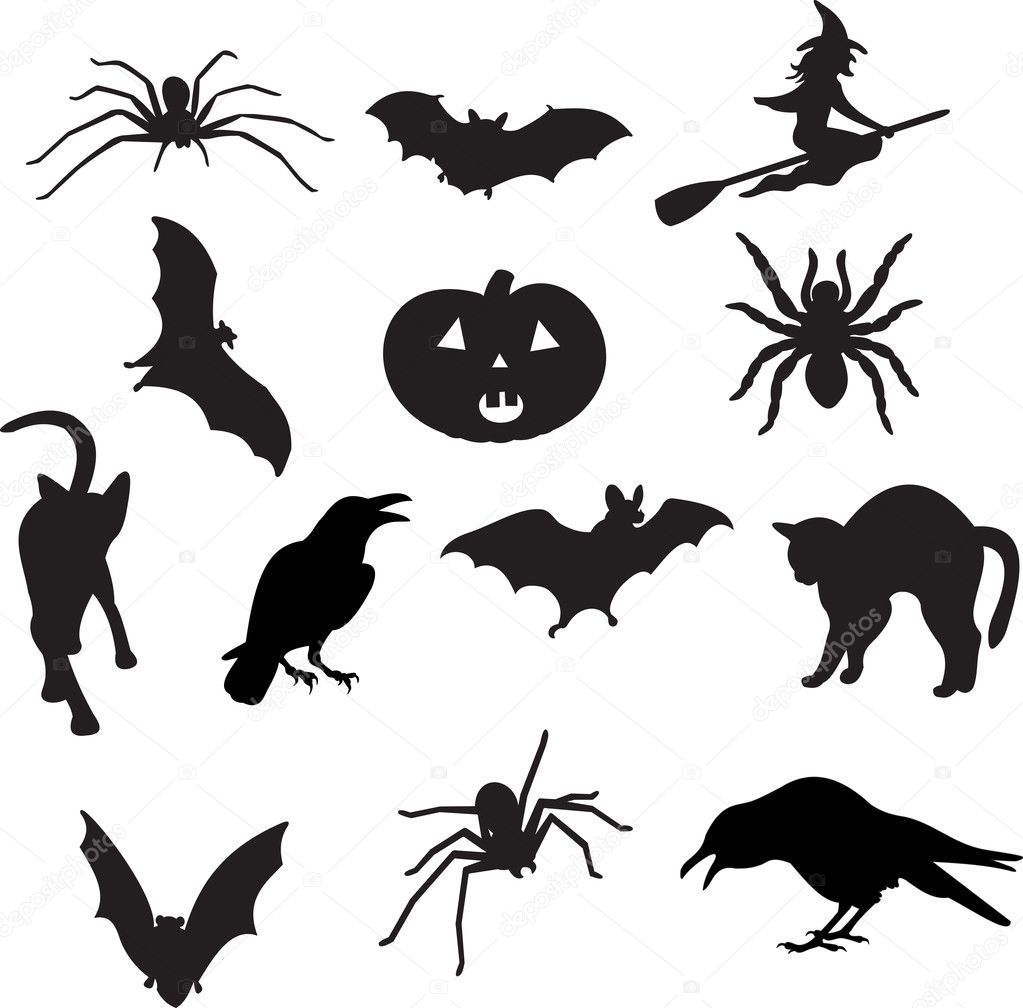 Halloween Vectors helloween icons images Illustration Isolated On A White Background Vector By Abrakadabra