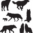 Wolfs vector - Stock Vector