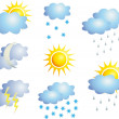 Weather vector — Stock Vector