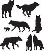 Wolfs vector — Stock Vector