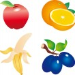 Fruits vector — Stock Vector #2630733
