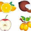 Fruits vector — Stock Vector