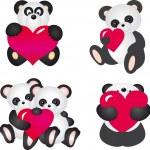 Panda vector — Stock Vector #2631335