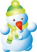 Vettore di pupazzo di neve — Vettoriale Stock