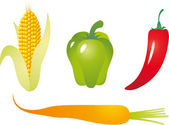 Vegetables vector — Stock Vector