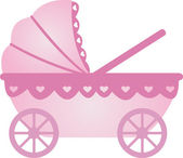Baby Carriage vector — Stock Vector