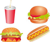 Fast food vector — Stock Vector