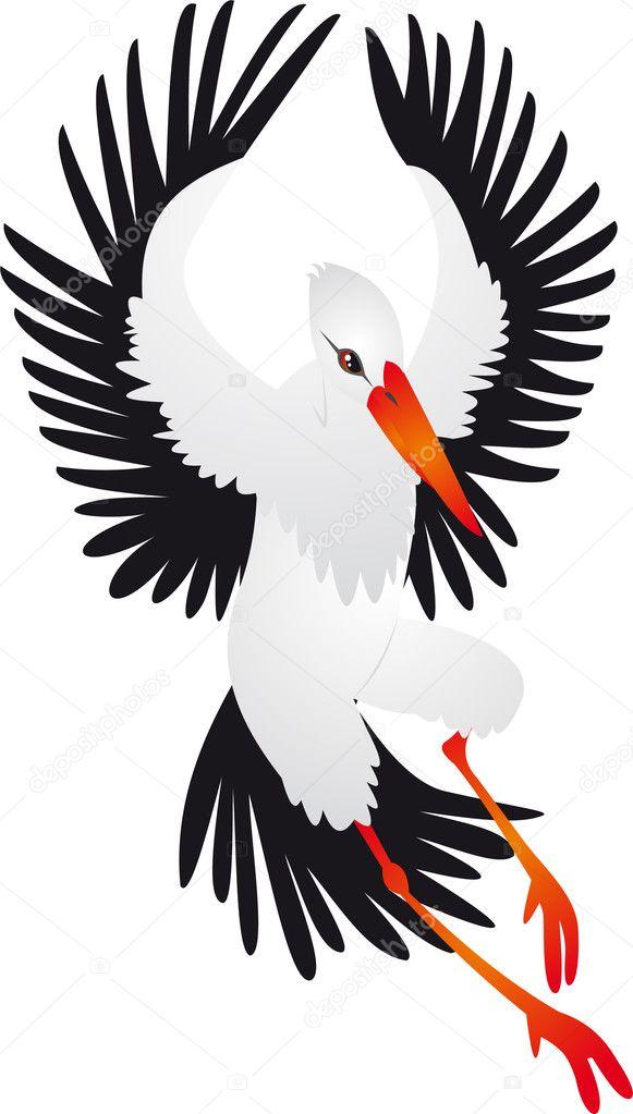 Рисунки крылья аиста