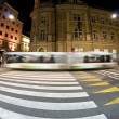 Stock Photo: Pedestrian zebra crossing on busy street