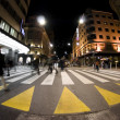 Pedestrian zebra crossing on busy street — Stock Photo