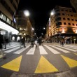 Pedestrian zebra crossing on busy street - Stock Photo