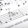 Stock Photo: Guitar music sheet detail