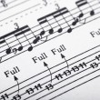 Guitar music sheet detail — Stock Photo