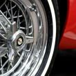 Tire of a sports car - Stockfoto