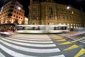 Pedestrian zebra crossing on busy street — Stock Photo