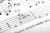 Guitar music sheet detail — Stock Photo