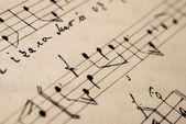 Musical handwriting — Stock Photo