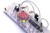 Electronic breadboard. — Stock Photo