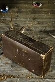 Old worn out suitcase — Photo