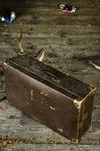 Vieux usés valise — Photo