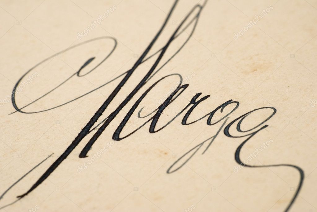old beautiful signature � stock photo 169 zcetrt 2195287