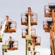 Boom lifts — Stock Photo