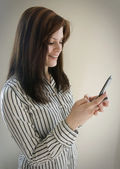 Business Woman Texting — Stock Photo