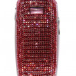 Stock Photo: Mobile phone encrusted with crystals