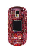 Mobile phone encrusted with crystals — Stock Photo
