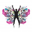 Royalty-Free Stock Immagine Vettoriale: Butterflies design