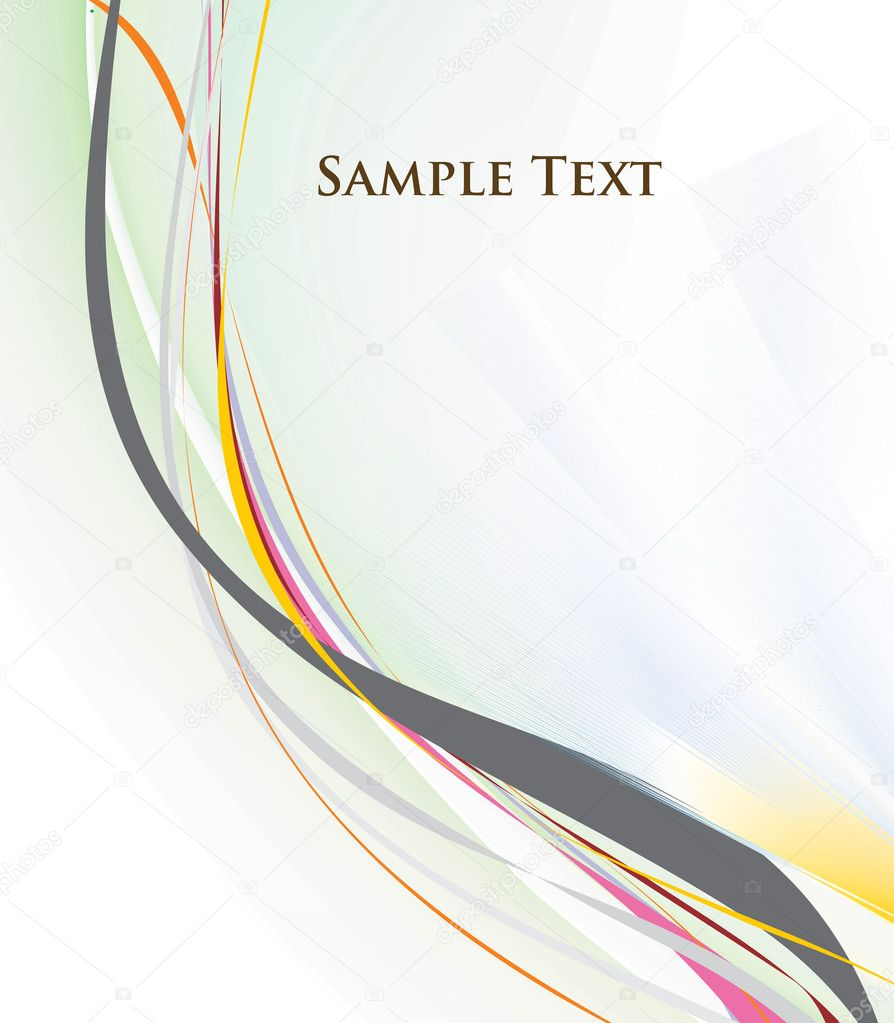 Abstract rainbow wave line with space of your text, vector illustration — Stock Vector #2364721