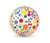 Bola multicolor abstracto — Vector de stock