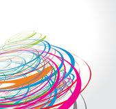 Rainbow wave line — Stock Vector