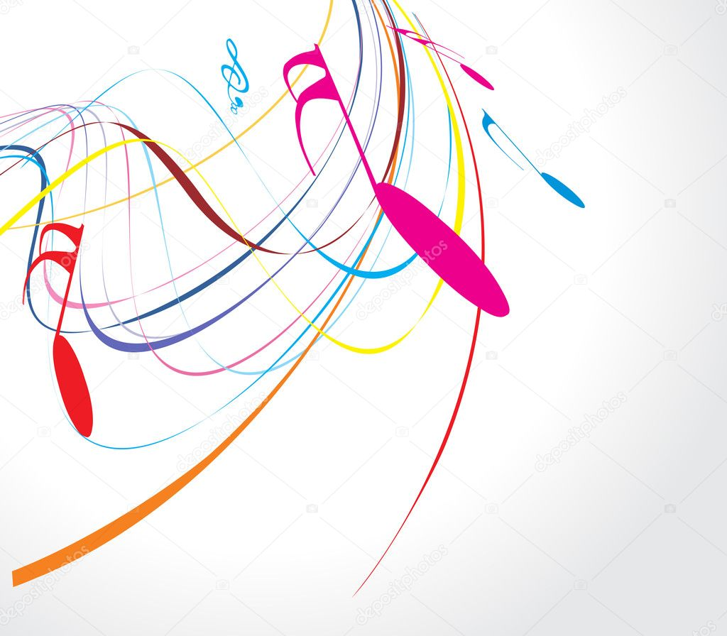 Musical wave line of musical notes, vector illustration  Image vectorielle #2514948