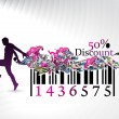 Discount banner - Stock Vector