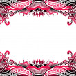 Abstract floral border background - Imagen vectorial