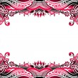 Abstract floral border background - Stock Vector