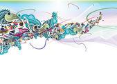 Floral rainbow color design — Stock Vector