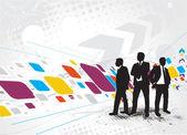 Standing businessman silhouette — Stock Vector