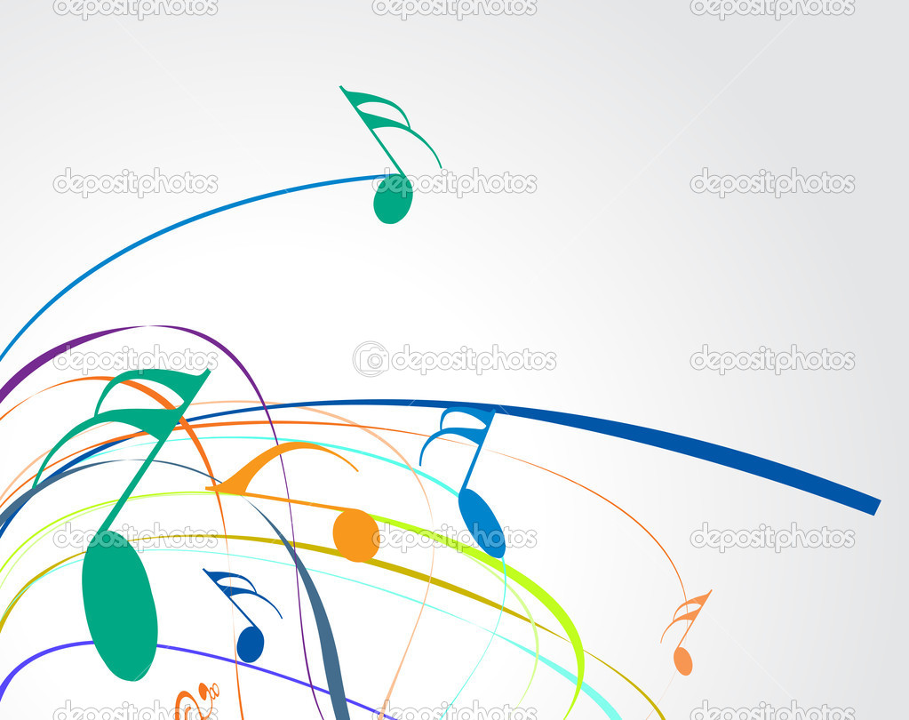 Music theme for more background of this type please visit my gallery, vector illustation — Stock Vector #2608320