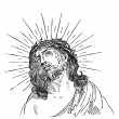 Stock Vector: Jesus Christ engraving (vector)