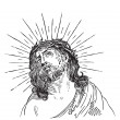Jesus Christ engraving (vector) — Vettoriali Stock