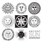 Set of retro sun icons (vector) — Stock Vector #2198297