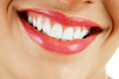 Smiling woman mouth — Stock Photo