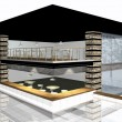 Stock Photo: 3D render of modern house