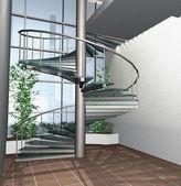 3D render of modern house interior — Stock Photo