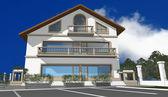 3D render of modern house — Stock Photo