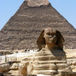 Great sphinx in Cairo - Stock Photo