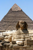 Great sphinx in Cairo — Stock Photo