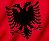 Flag of Kosovo waving — Stock Photo